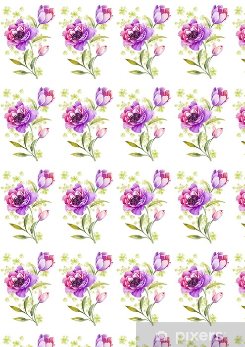Papier Peint A Motifs Fleurs Aquarelle D Illustration En Arriere