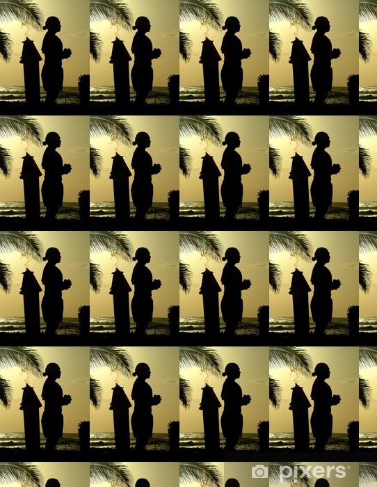 Vinyltapete nach Maß Hawaii Silhouette 2 - Urlaub