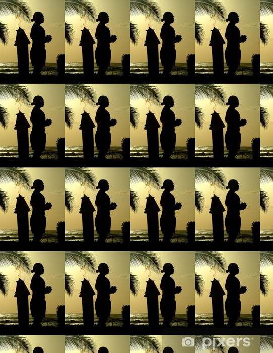 Hawaii Silhouette 2 Vinyl custom-made wallpaper - Holidays