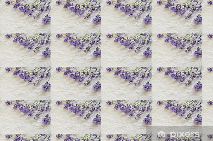 Vinylová tapeta na míru Levandule na papíře - Květiny