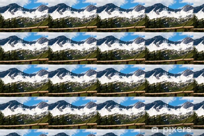 Papier peint vinyle sur mesure Pas Kleine Sint Bernhard, La-Thuile, Val-d'Aosta, ITALIE - Europe