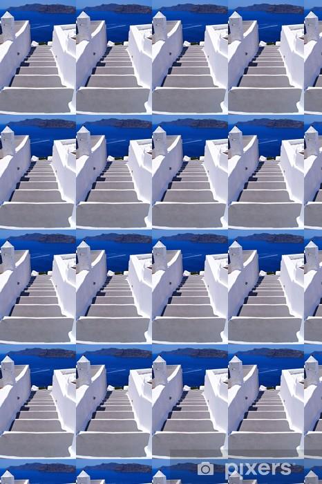 Vinylová tapeta na míru Klasický bílý schodiště k moři na Santorini, Řecko - Témata