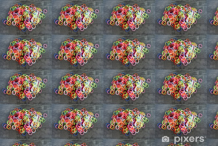 Tapeta na wymiar winylowa Kolorowe tęczy bransoletka mody krosno gumki - Tekstury