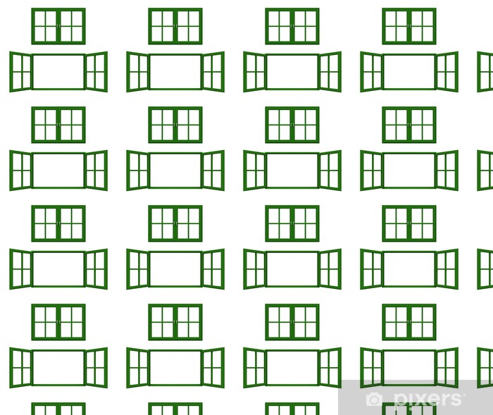 Papel pintado estándar a medida Marco de la ventana de color verde oscuro -