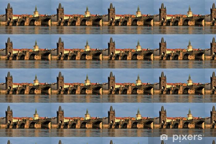 Papier peint vinyle sur mesure Pont Charles au coucher du soleil, Prague - Villes européennes