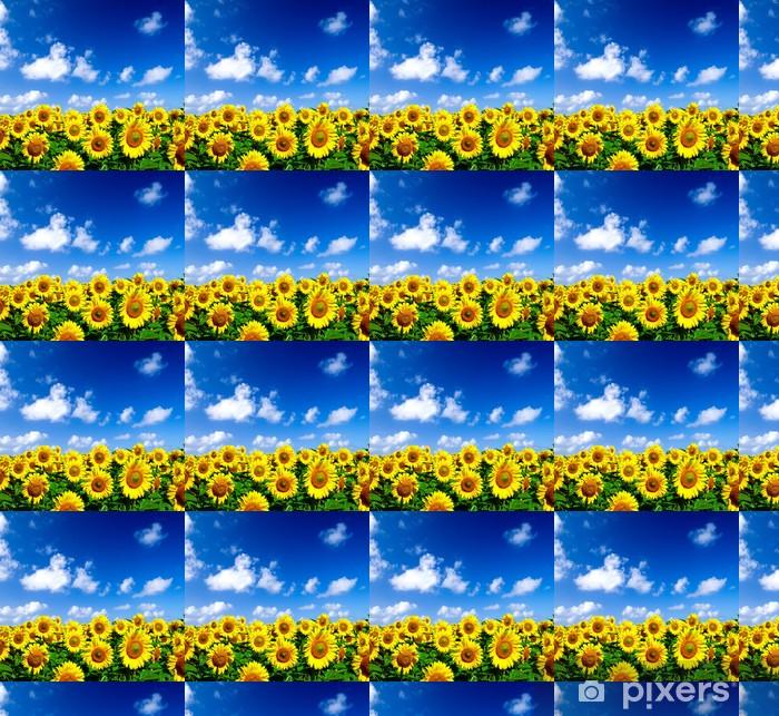 Vinyltapete nach Maß Sonneblumenfeld - Themen