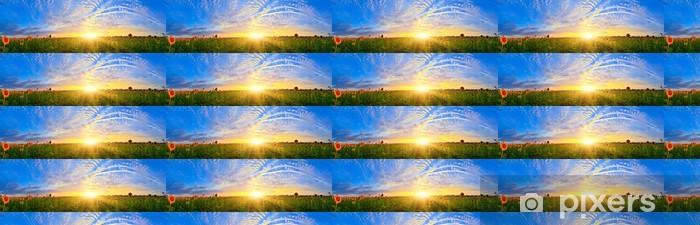 Tapeta na wymiar winylowa Pole słonecznika - Krajobraz wiejski