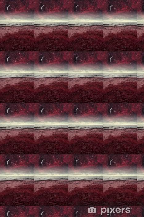 Vinyltapete nach Maß Rot Nacht auf See. Elemente dieses Bildes von der NASA eingerichtet - Themen