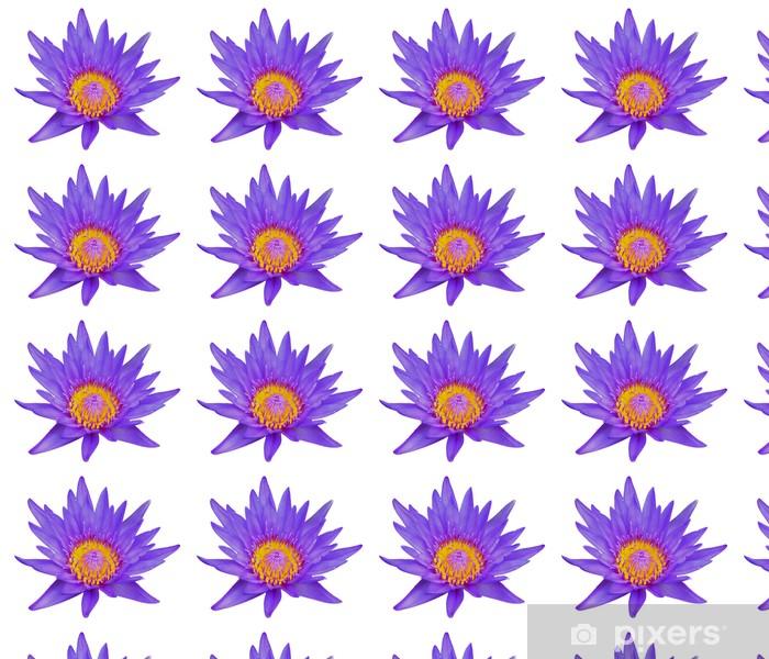 Papier peint vinyle sur mesure Fleur de lotus isoler sur fond blanc - Fleurs