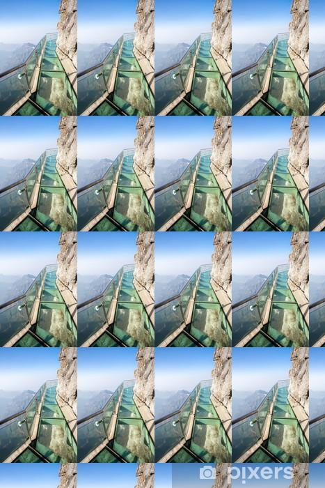 Papier peint vinyle sur mesure Mont Tianmen en Chine - Asie