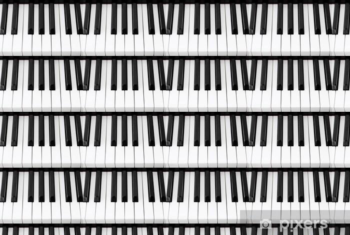 Papier peint vinyle sur mesure Clés de piano Gros plan - Musique