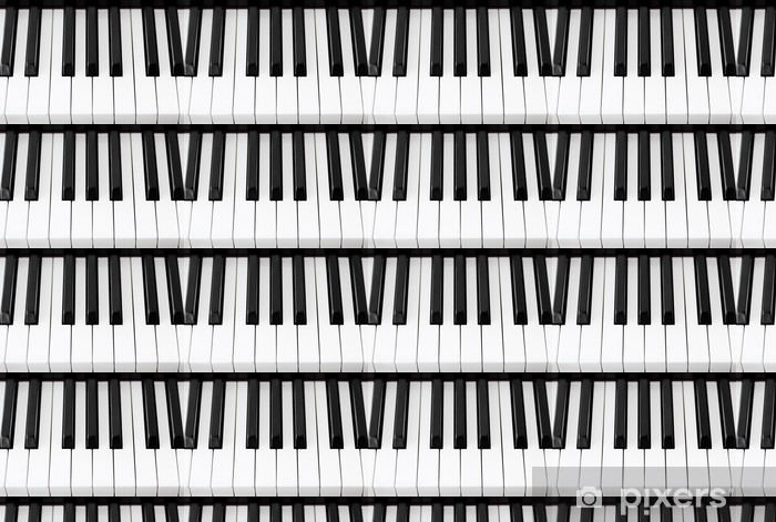 piano keys closeup Vinyl custom-made wallpaper - Music