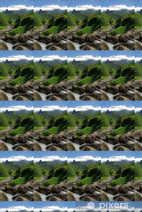 Tapeta na wymiar winylowa Mountain polinezja tahiti w - Woda