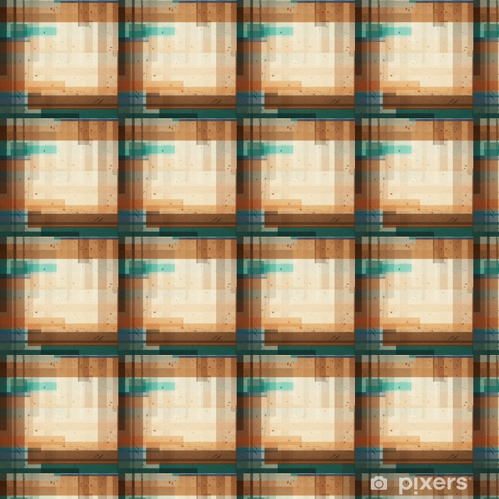 Papier peint vinyle sur mesure Fond géométrique colorée de forme différente - Arrière plans