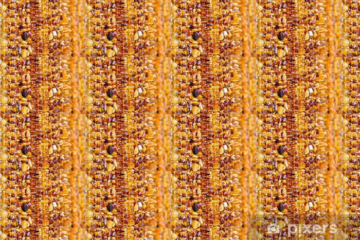 Vinyltapete nach Maß Bernsteinperlen Hintergrund - Texturen