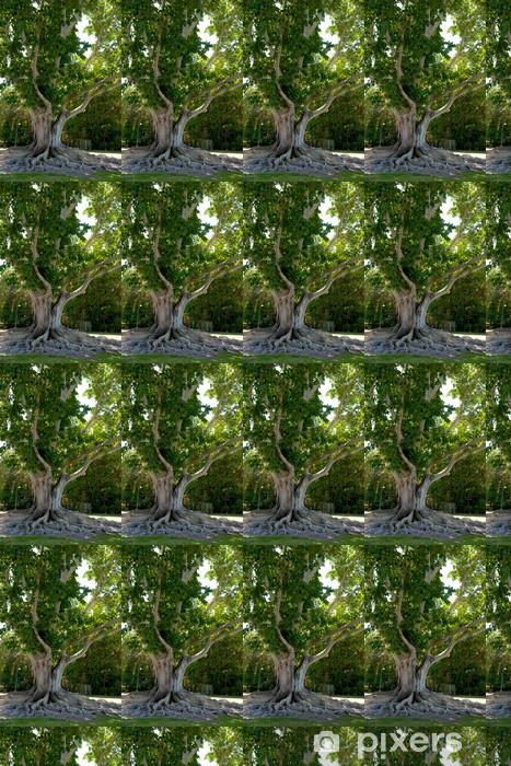 Papier peint vinyle sur mesure Racines d'un Banyan Tree à Edison-Ford Estates - Amérique