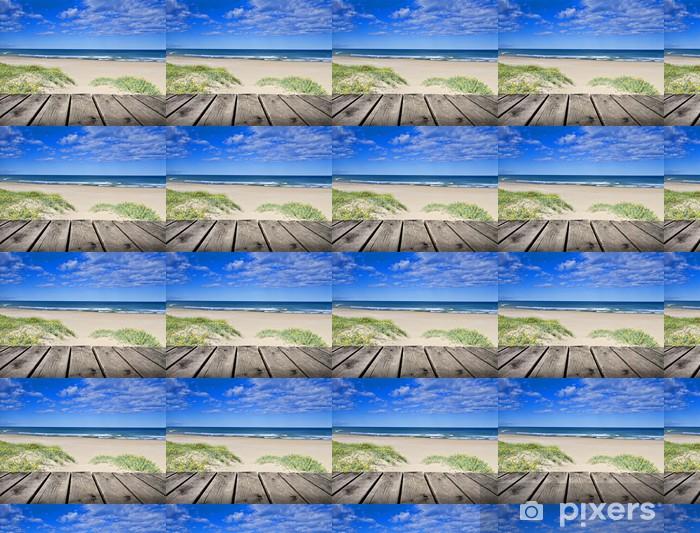 Tapeta na wymiar winylowa Promenady obok błękitnego morza piasku - Wakacje