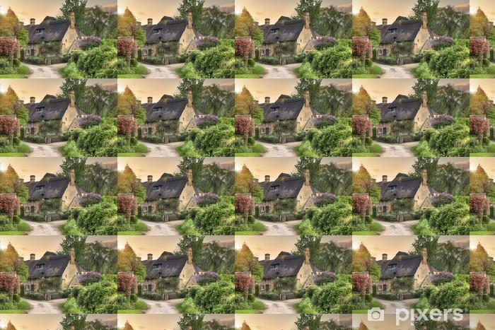 Vinylová tapeta na míru Cotswold chata při západu slunce - Prázdniny