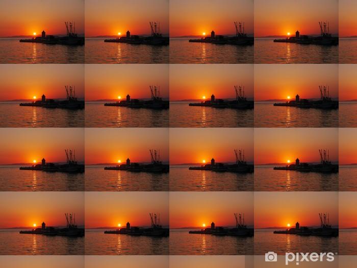 Papier peint vinyle sur mesure Coucher de soleil sur l'île de Brac - Europe