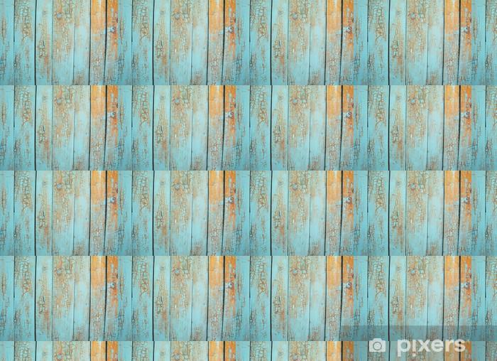 Papier peint vinyle sur mesure Panneau bleu bois - Thèmes