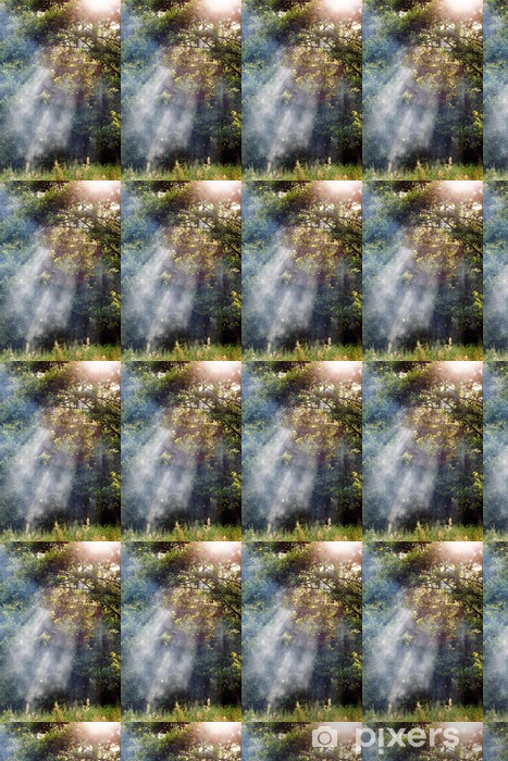 Papier peint vinyle sur mesure Forêt Matin - Forêt