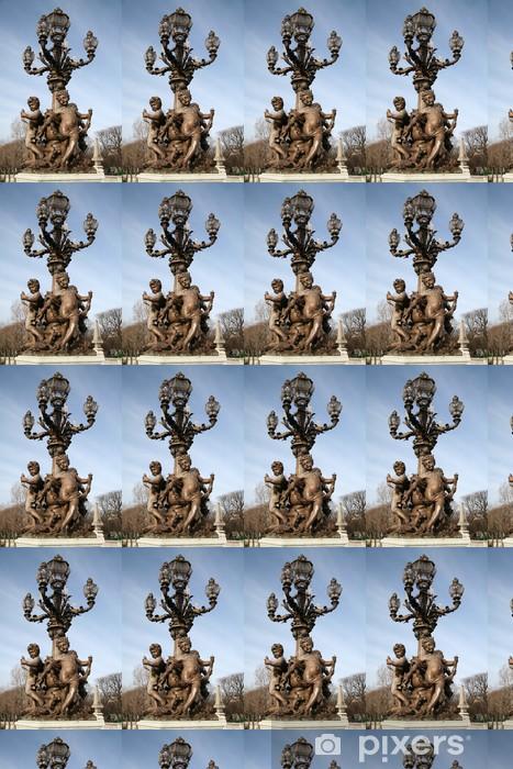 Vinylová tapeta na míru Lampa Pont Alexandre III - Evropská města