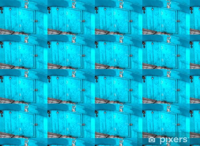 Papier peint vinyle sur mesure Porte bleue - Bateaux