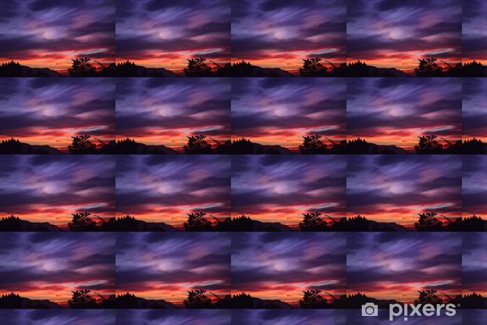 Tapeta na wymiar winylowa Fioletowy pomarańczowy słońca - Niebo