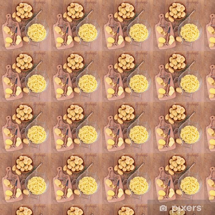 Papier peint vinyle sur mesure Pomme de terre crue - Thèmes