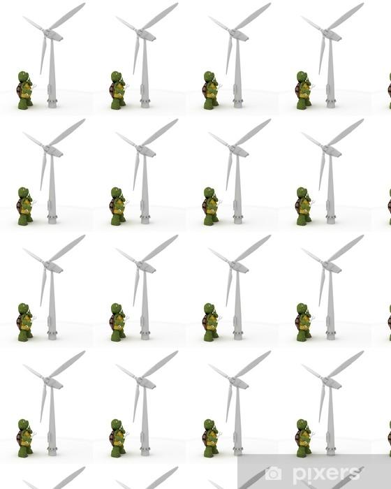 Papier peint vinyle sur mesure Tortue avec la turbine de vent - Signes et symboles