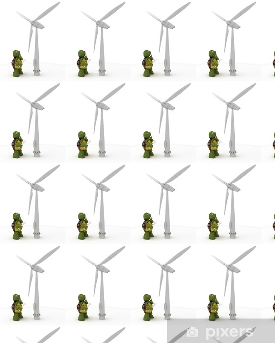 tortoise with wind turbine Vinyl custom-made wallpaper - Signs and Symbols