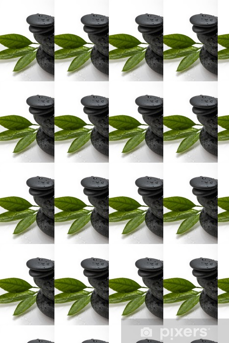Tapeta na wymiar winylowa Kamyczki i zielonych liści - Tekstury