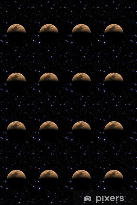 Vinyltapete nach Maß Mond unter Tausenden Sternen im Weltraum. - Weltall