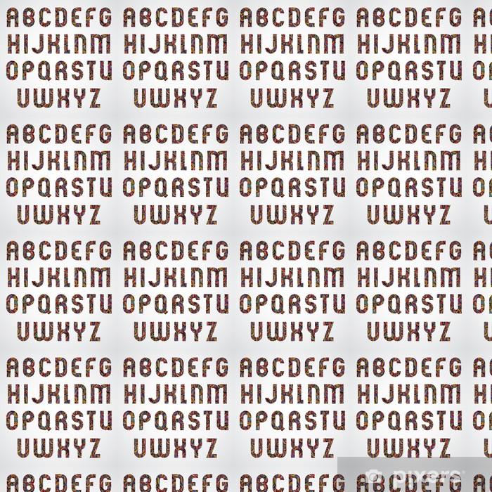 Tapeta na wymiar winylowa Projekt litery alfabetu modne urządzone. - Edukacja