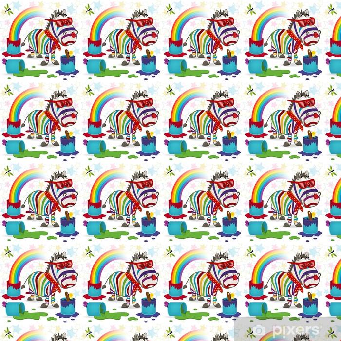 Rainbow Zebra Wallpaper Vinyl Custom Made