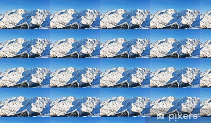 Papier peint vinyle sur mesure MontBlanc montagne dans les Alpes - Europe