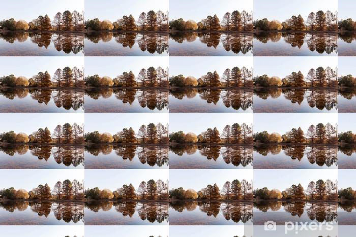 Tapeta na wymiar winylowa Spokojne jezioro jesienią - Woda