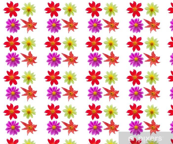 Papel pintado estándar a medida Flores de la dalia aislados en blanco - Celebraciones