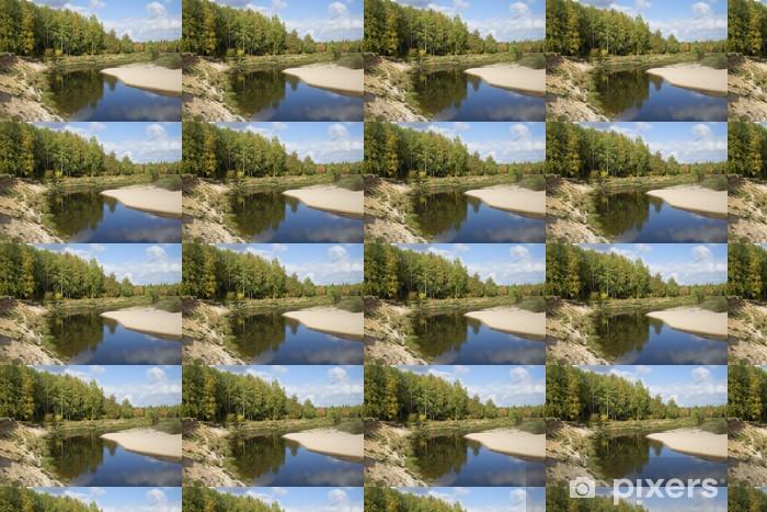 Papier peint vinyle sur mesure Сентябрьский день на реке Межа. Костромская область - Eau