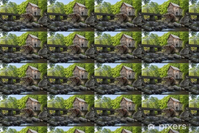 Papier peint vinyle sur mesure Glade Creek Grist Mill - Infrastructures