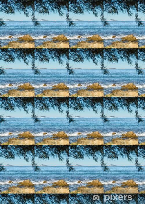 L'Ile Rousse viewed from Desert Des Agriates in Corsica Vinyl custom-made wallpaper - Europe