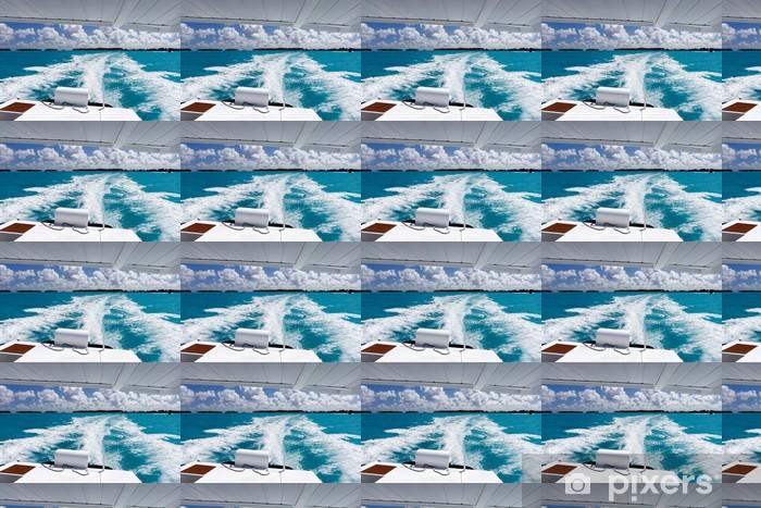 Papier peint vinyle sur mesure Yacht à voile dans un paradis tropical - Bateaux