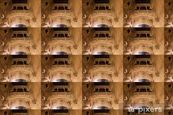 Carrer del Bisbe Bridge in Barcelona Vinyl custom-made wallpaper - Infrastructure