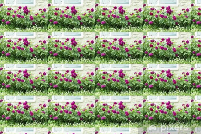 Tapeta na wymiar winylowa Róża kwiat łóżko - Kwiaty