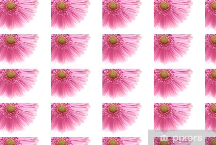Papier peint vinyle sur mesure Gerbera rose simple - Fleurs