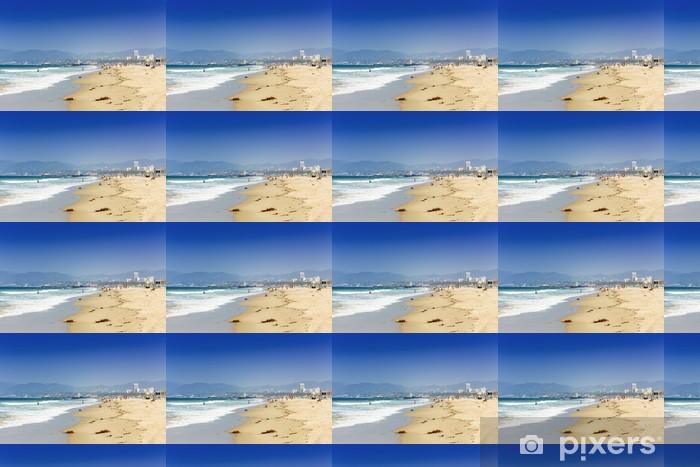 Papier peint vinyle sur mesure Santa monica beach - Villes américaines