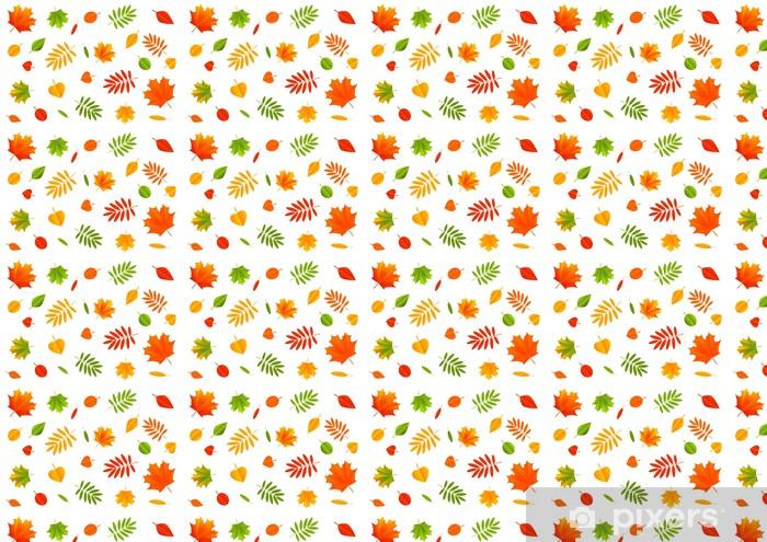 Tapeta na wymiar winylowa Kolor liści jesienią na białym tle - Pory roku
