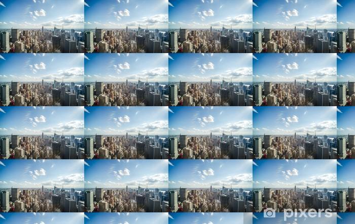 Papier peint vinyle sur mesure New York City Manhattan Midtown Les bâtiments vue horizon - Amérique