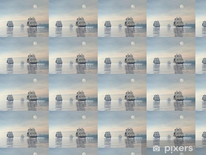 Vinylová tapeta na míru Staré lodě - 3D vykreslování - Témata