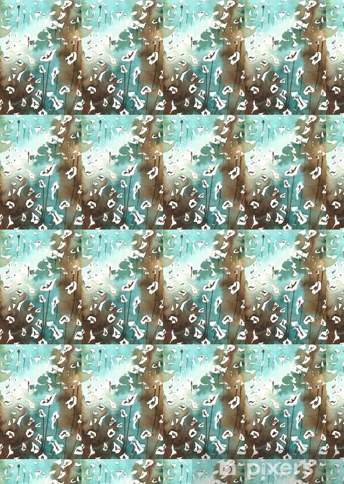 Papier peint vinyle sur mesure Gris, bleu, fleurs blanches, - Arrière plans